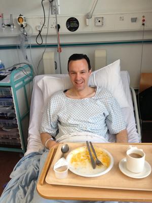 Tim in hospital